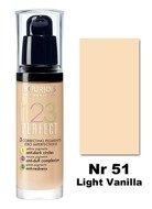BOURJOIS 123 Perfect Foundation Podkład 51 Light Vanilla 30 ml