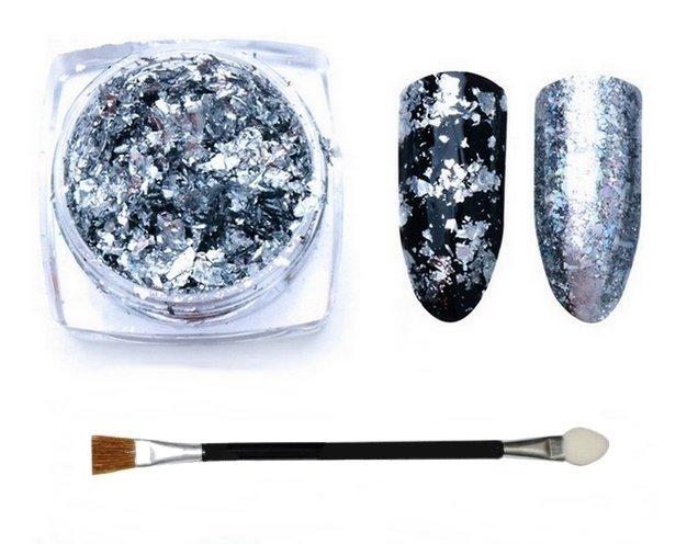 Prisma Efekt Lustra 2 Sposoby Stylizacji Srebrny Srebrny Manicure