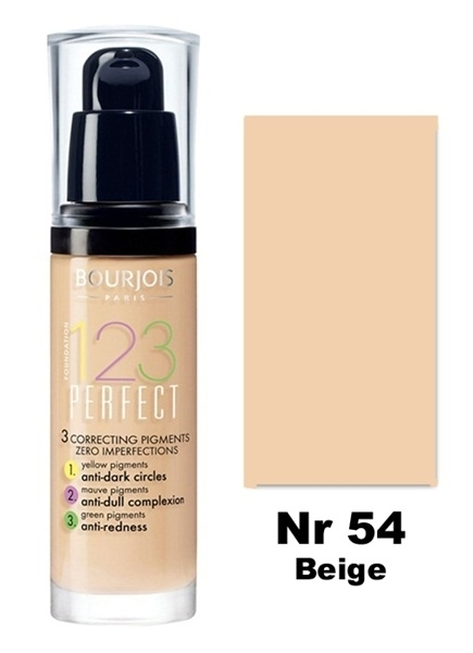 BOURJOIS 123 Perfect Foundation Podkład 54 Beige 30 ml