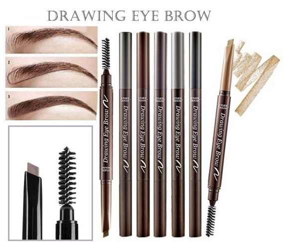 Drawing Eye Brow Woskowa Kredka do Brwi kolor 01 CZARNA