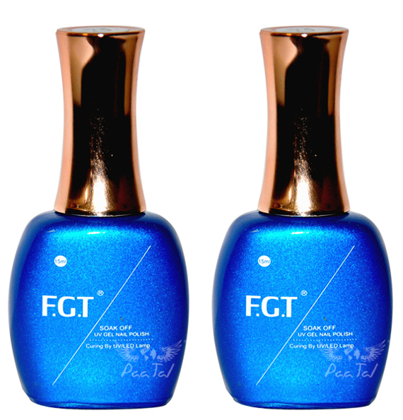 F.G.T Top No Wipe + Baza do Manicure Hybrydowego Zestaw 15ml