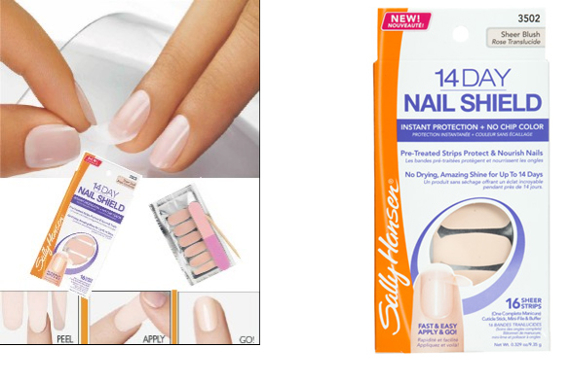 Sally Hansen 14 Day Nail Shield zestaw 16 pasków do manicure 3502