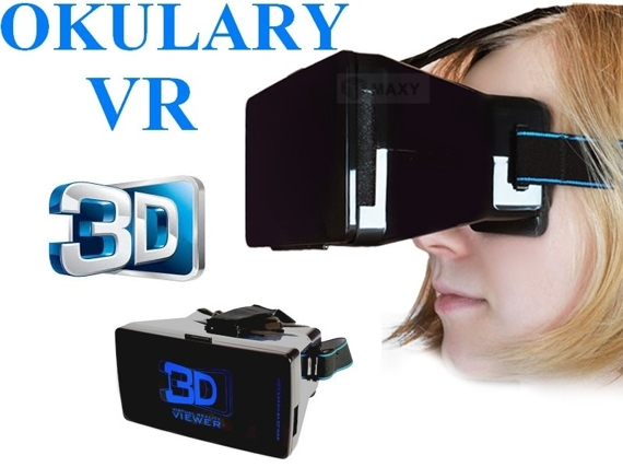 Viewer Okulary 3D Google VR Virtualny hełm do smartfonu